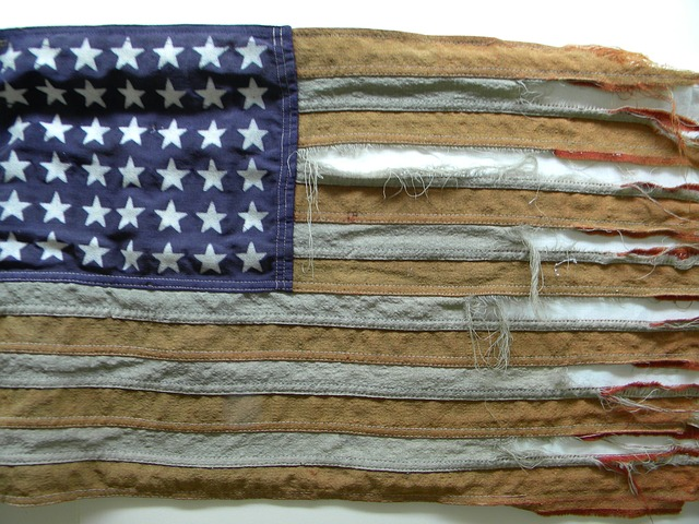 American Flag Tattered - Public Domain
