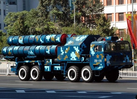 Chinese S-300 launcher during China's 60th anniversary parade - Photo by Jian Kang
