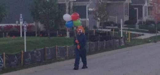 Creepy Clown - Photo posted by Swiper Fox on Facebook