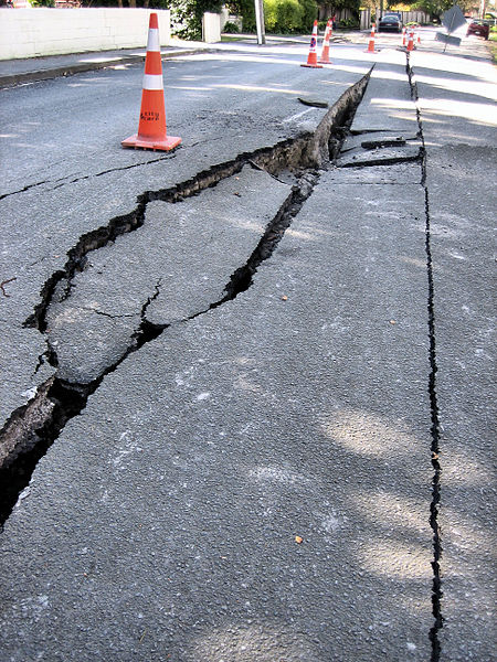 Earthquake Damage - Cracks In The Earth