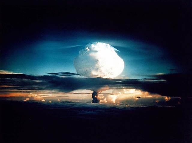 Nuclear Explosion On The Horizon - Public Domain