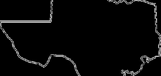 Texas Map - Public Domain