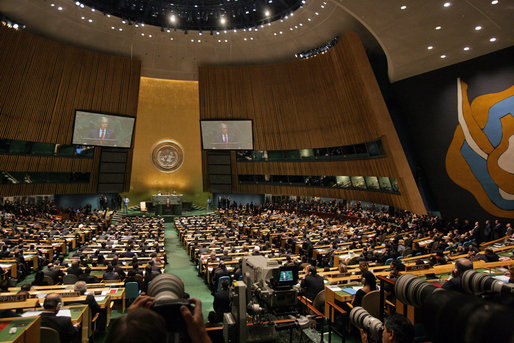 GWB.  Remarks to United Nations General Assembly.