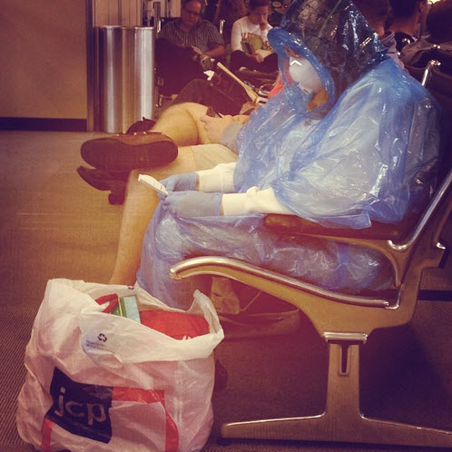 Wearing Hazmat Suit In Airport