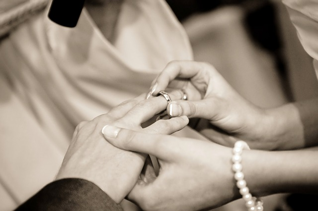 Wedding - Exchanging Rings - Public Domain