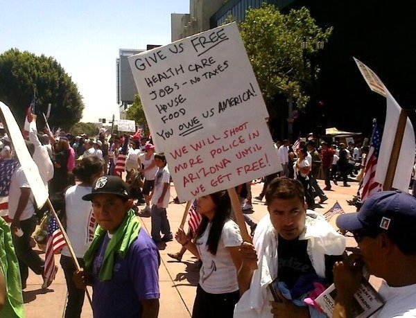 Illegal Immigration Protesters