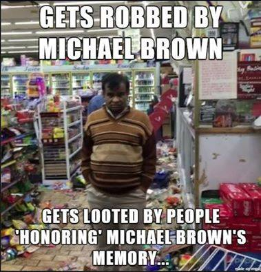 Michael Brown Irony