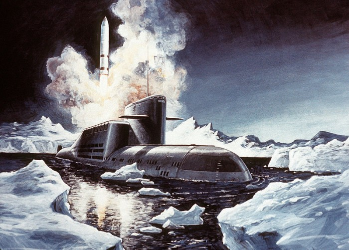 Russian Submarine Launching A Nuclear Missile - Public Domain