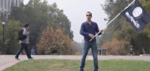 Waving ISIS Flag - Video Screenshot