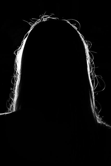 woman silhouette - Public Domain