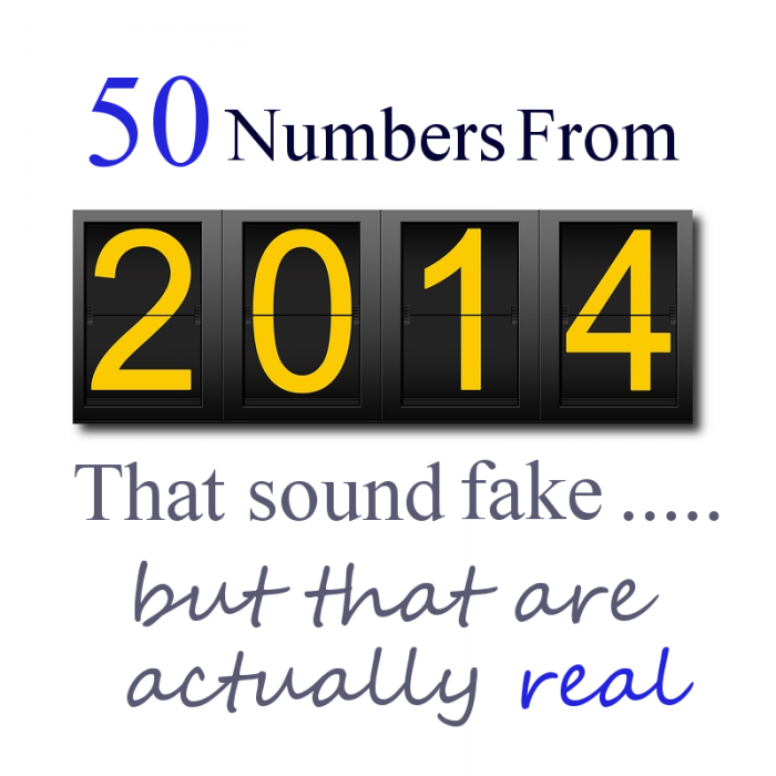 50 Numbers From 2014 That Sound Fake But Are Actually Real