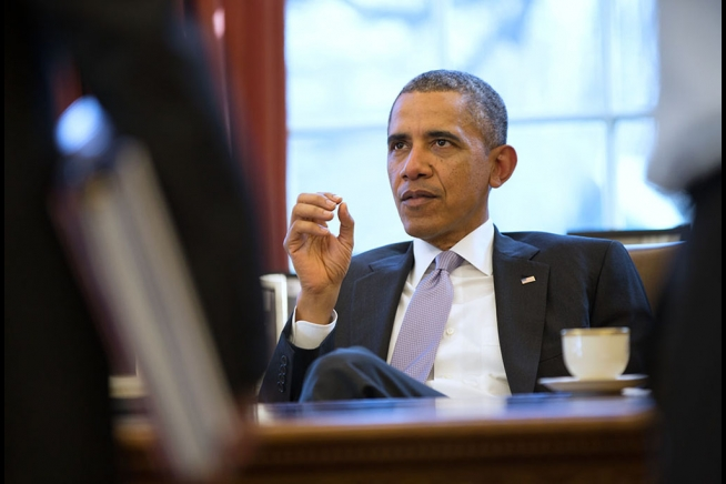 Barack Obama Giving Orders - Public Domain