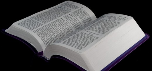 Bible On A Black Background - Public Domain