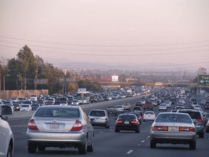 California Highway Traffic Jam - Photo by Daniel R. Blume