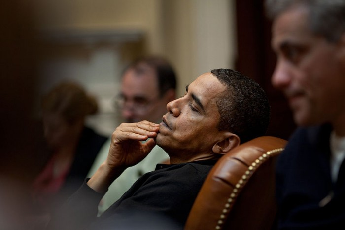 Obama Sleeping