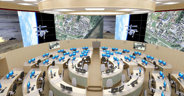 Russian War Room - Photo from Russian Defense Ministry
