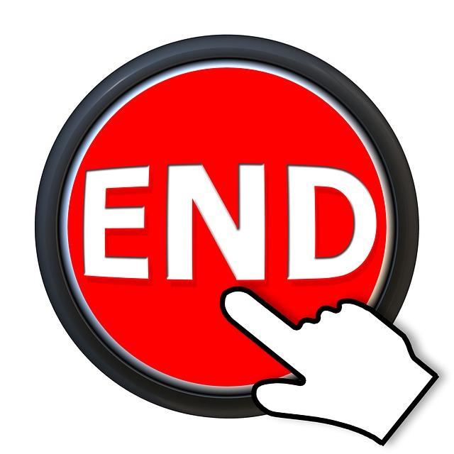 The End Button - Public Domain