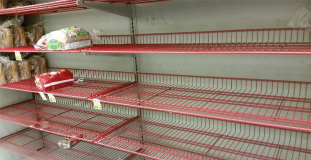 Empty Shelves - Photo from Twitter