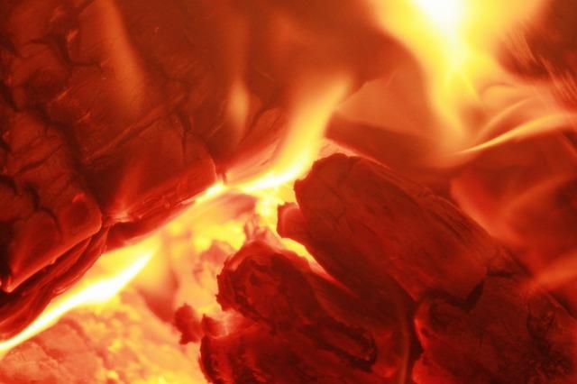 Fire Burning Wood - Public Domain