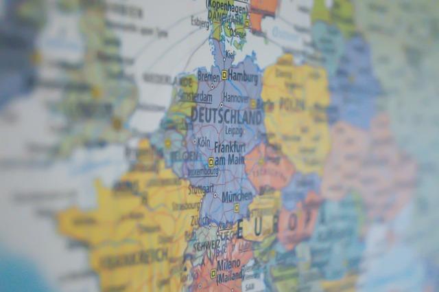 Germany Map - Public Domain