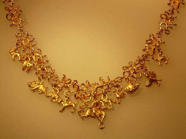 Gold Necklace - Public Domain