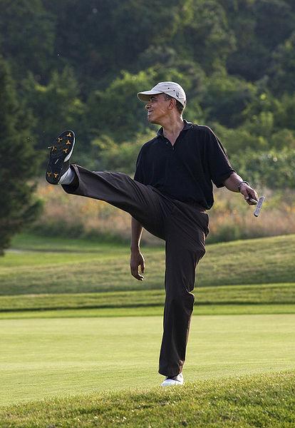 Obama Golfing