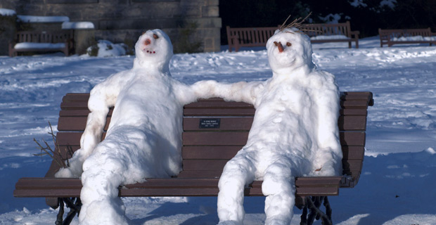 Snowmen - Photo by Magnus Hagdorn, Wiki