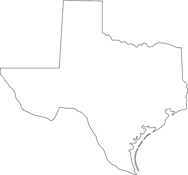 Texas Map - Public Domain