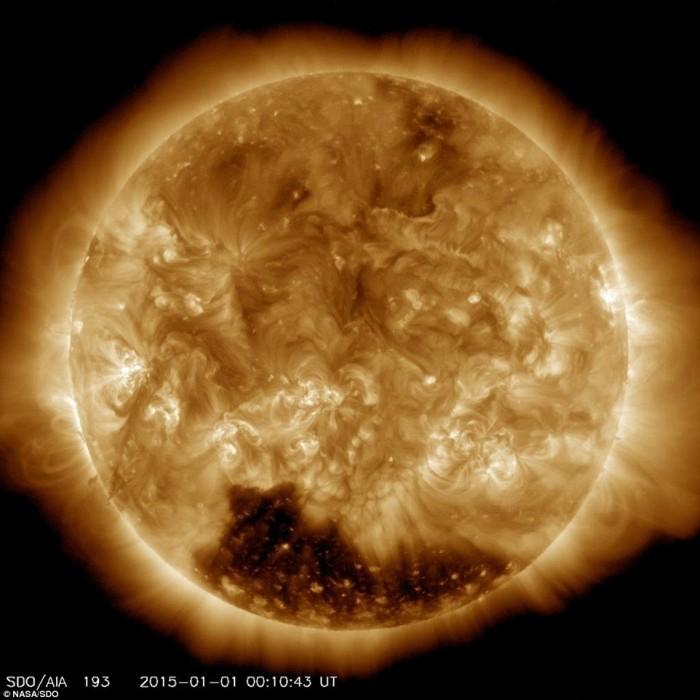 The Sun Has A Huge Hole