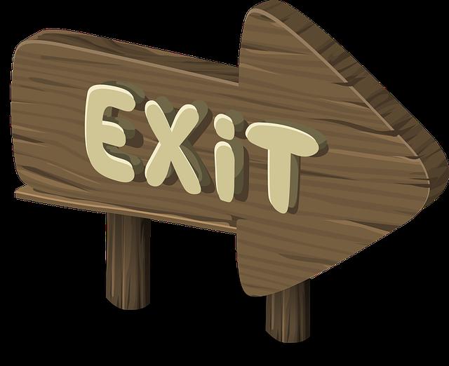 Exit - Public Domain