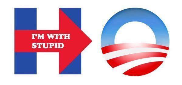 Hillary Logo I'm With Stupid