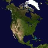 North America Map - Public Domain