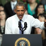Barack Obama Giving Speech - Photo by Gage Skidmore