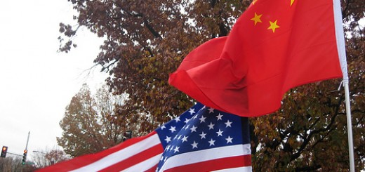 Chinese Flag American Flag