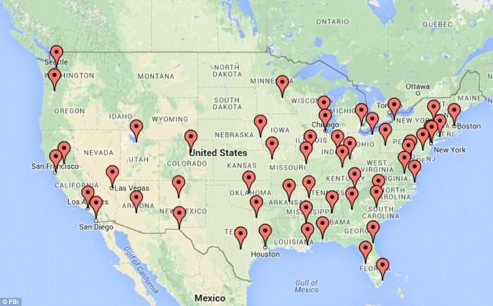 FBI Map