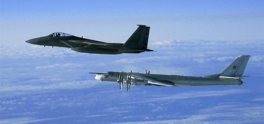 Russian Bomber Intercepted by 12th_Fighter_Squadron_F-15 - Public Domain