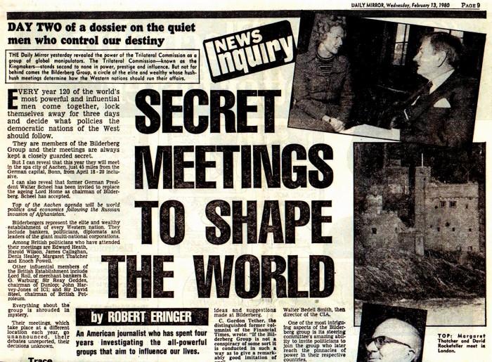 Secret Meetings To Shape The World