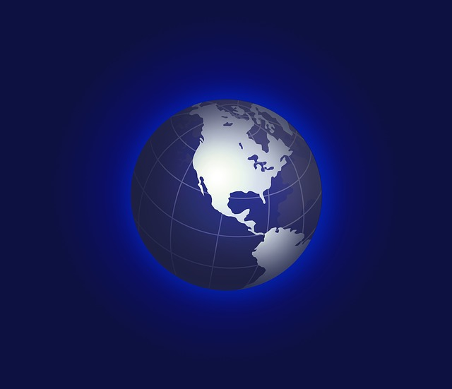 United States Map On A Globe - Public Domain