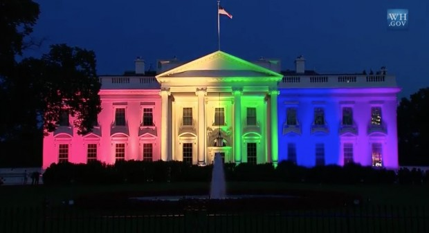White House In Rainbow Colors