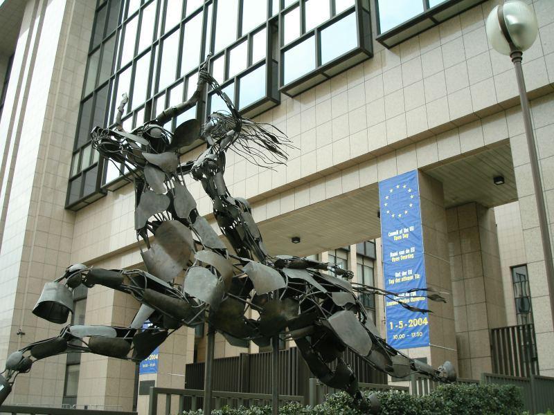 Europa Statue EU Headquarters Brussels
