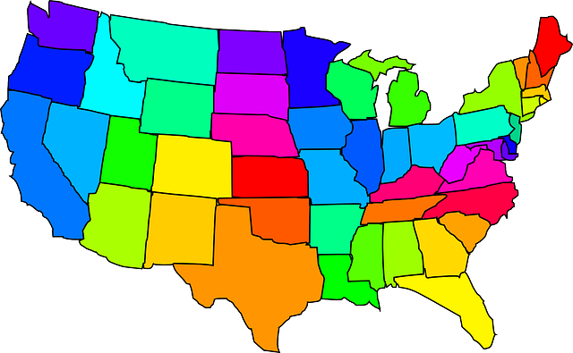 Map Of The United States - Public Domain