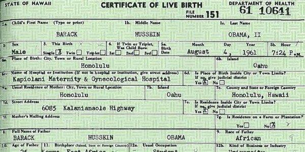Obama Birth Certificate