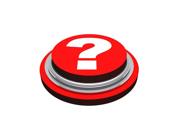 Question Button - Public Domain