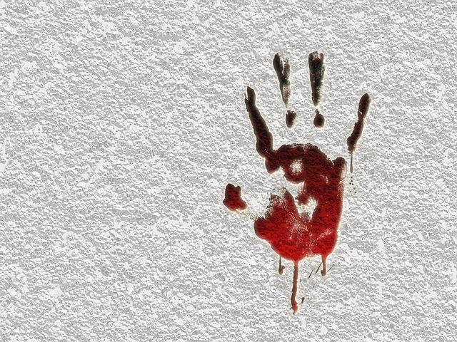 crime criminal murder reprint blood effect finger - Public Domain