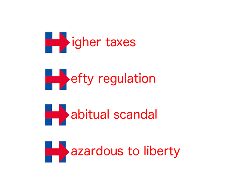 Hillary Logo Higher Taxes