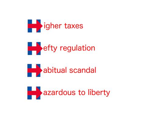 Hillary Logo Higher Taxes