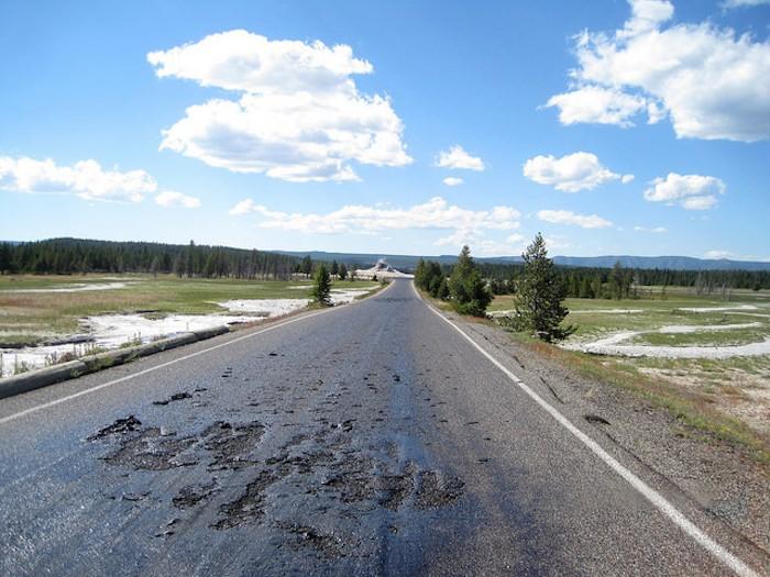 Yellowstone National Park Asphalt