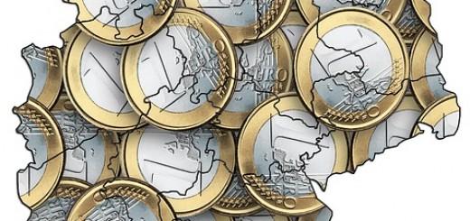Germany Euro Map - Public Domain