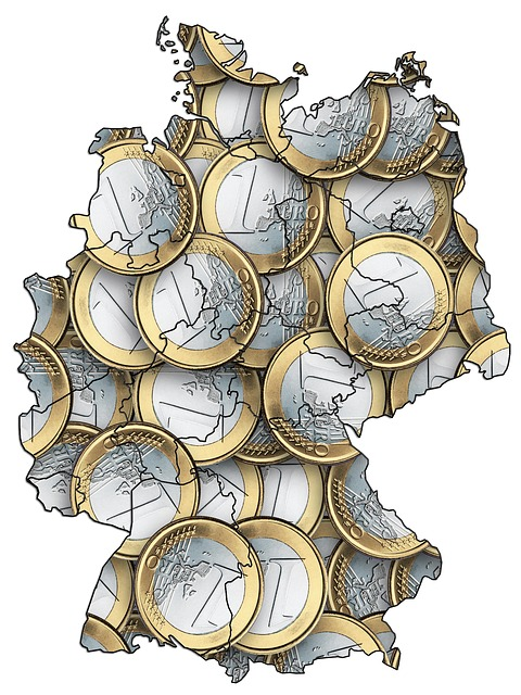 Germany Euro Map - Public Domain