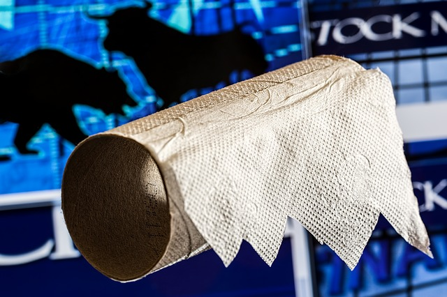 Stock Market Collapse Toilet Paper - Public Domain